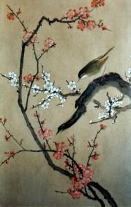 Ожил японский соловей на ветке  сакуры…