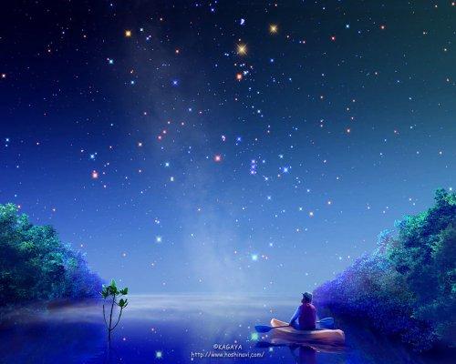 На небо яркое, на звезды чистые