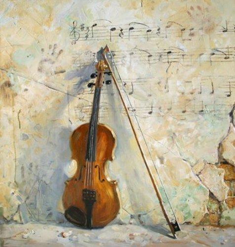 Скрипка…  со смычком у тульи