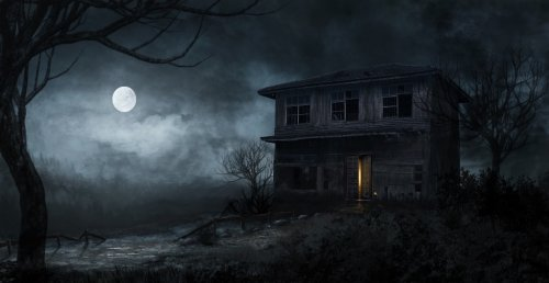 Старый дом тихонько погружался в сон…