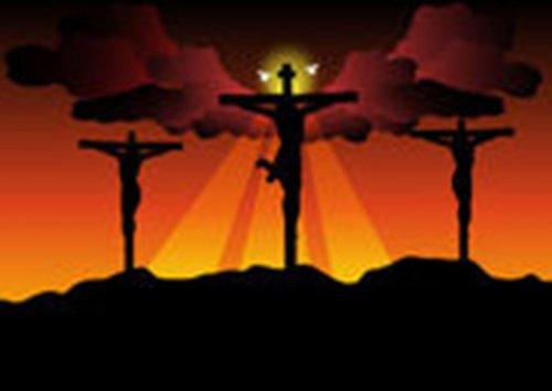 А по горе огонь хлестал - троих сжигали на крестах!..