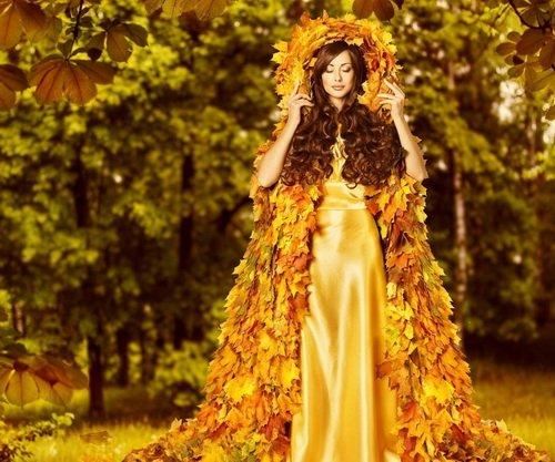 Букет багряных листьев