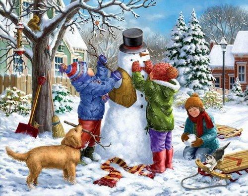 Снеговик. Детское